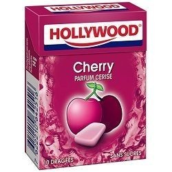 Hollywood Chewing Gum Cerise en Dragées