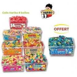 Colis Bonbons Haribo 8 boites