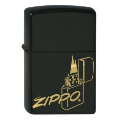 Briquet Zippo Logo Noir