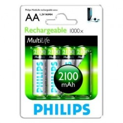 Pile LR06/ AA Philips Rechargeables x 4