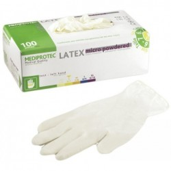 100 Gants Latex Blanc