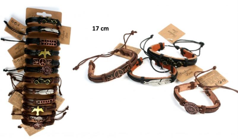 bracelet-mode-cuir-en-métal