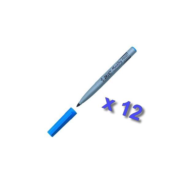 marqueur-permanent-pocket-Bleu -bic