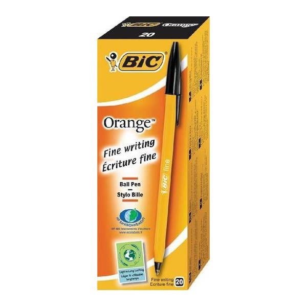 stylo-bic-orange-fine-encre-noir