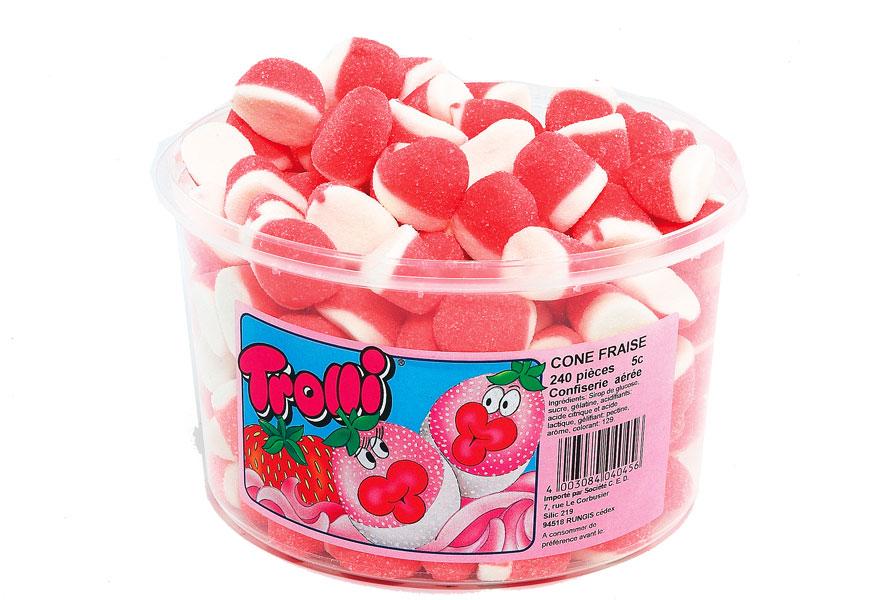 bonbon-trolli-cône-fraise